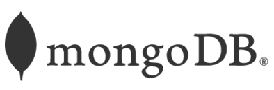 logo MongoDB gris